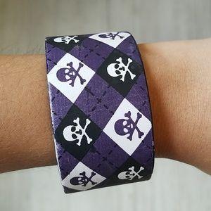 Leather Skull & Crossbones Bracelet